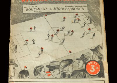 Bohemians v Middlesbrough 28.04.1948