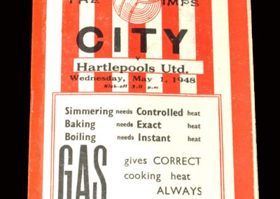 Lincoln v Hartlepools 01.05.1948 (Promotion clincher)