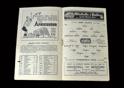 Derby Reserves v Huddersfield Reserves 24.01.1948