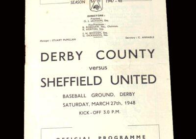 Derby v Sheff Utd 27.03.1948