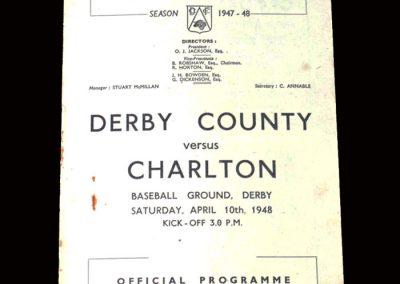 Derby v Charlton 10.04.1948