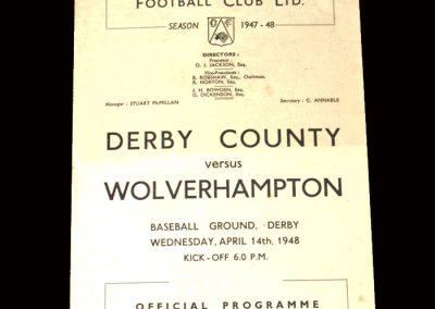 Derby v Wolves 14.04.1948