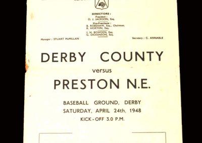 Derby v Preston 24.04.1948