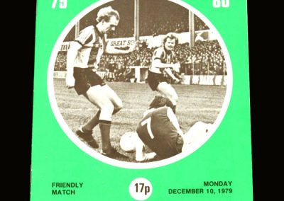 Hibs v Leicester 10.12.1979 - Friendly