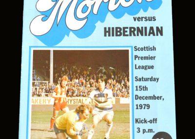Hibs v Morton 15.12.1979
