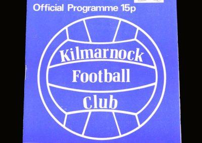 Hibs v Kilmarnock 05.01.1980