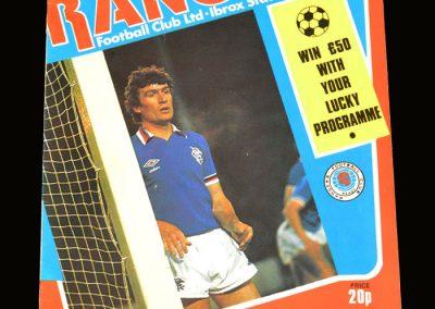 Hibs v Rangers 01.03.1980