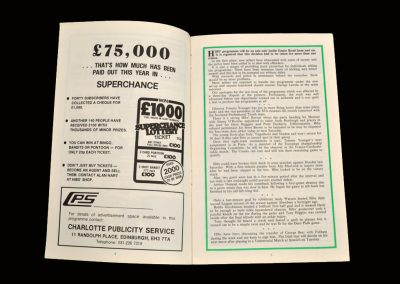 Hibs v Berwick 12.03.1980 - Scottish Cup 5th Round Replay