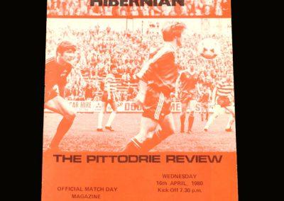 Hibs v Aberdeen 16.04.1980
