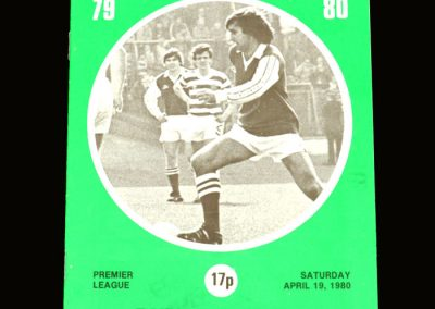 Hibs v Dundee United 19.04.1980