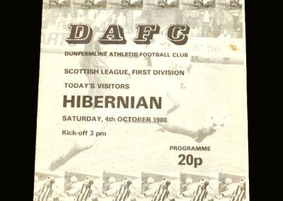 Hibs v Dunfermline 04.10.1980