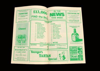Hibs v Falkirk 11.10.1980 - Best's last game
