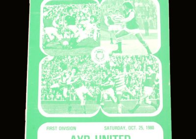 Hibs v Ayr United 25.10.1980 - Best had now left the club