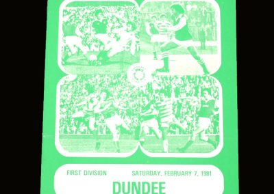 Hibs v Dundee 07.02.1981 - Gone but still on cover