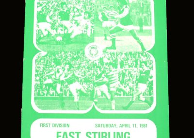 Hibs v East Stirling 11.04.1981 - Gone but still on the cover
