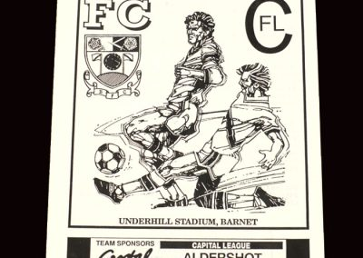 Barnet Reserves v Aldershot Reserves 18.09.1991