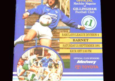 Barnet v Gillingham 21.09.1991