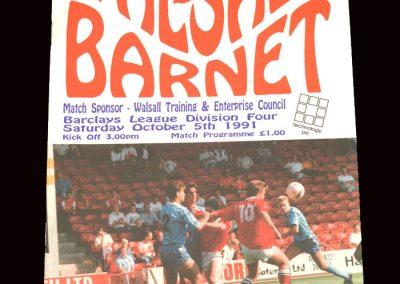 Barnet v Walsall 05.10.1991