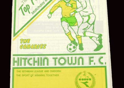 Barnet v Hitchin 23.10.1991 (Friendly)