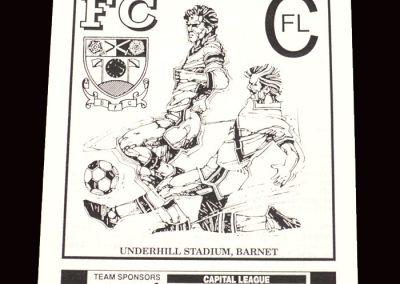 Barnet Reserves v Southend Reserves 28.10.1991