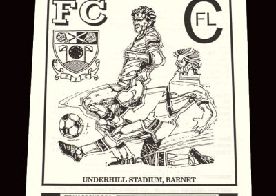 Barnet Reserves v Wealdstone Reserves 30.10.1991