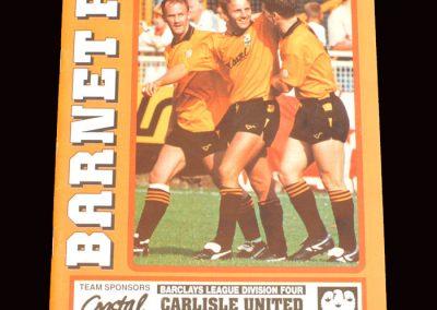 Barnet v Carlisle 05.11.1991