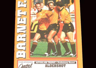 Barnet v Aldershot 19.11.1991 - FA Trophy 1st Round