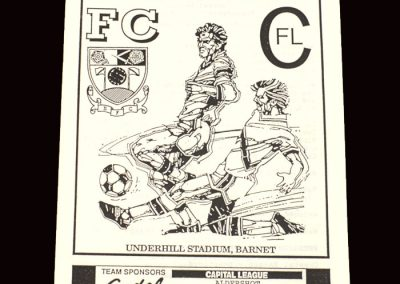 Barnet Reserves v Aldershot Reserves 20.11.1991