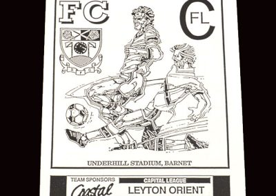 Barnet Reserves v Leyton Orient Reserves 27.11.1991