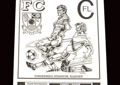Barnet Reserves v Colchester Reserves 04.12.1991