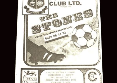Barnet Reserves v Wealstone Reserves 09.12.1991