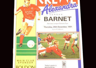 Barnet v Crewe 26.12.1991
