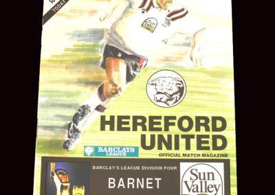Barnet v Hereford 28.12.1991