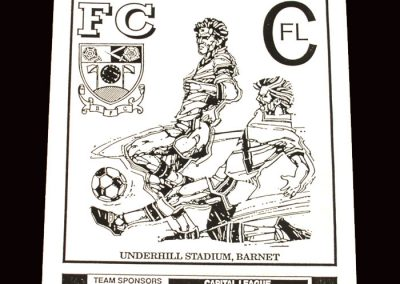 Barnet Reserves v Slough Reserves 20.01.1992