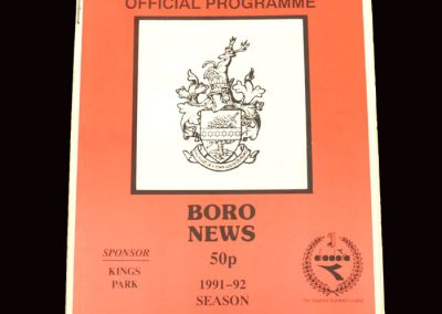 Barnet Reserves v Stevenage Reserves 27.01.1992 (Herts Cup 2nd Round)