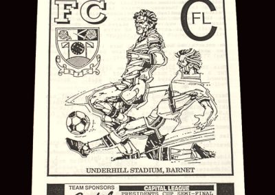 Barnet Reserves v Sutton 25.02.1992 - Capital League Semi Final