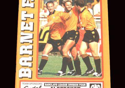 Barnet v Aldershot 03.03.1992 - results expunged