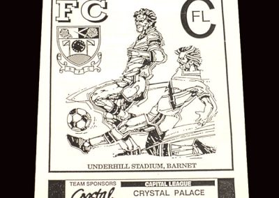 Barnet Reserves v Crystal Palace Reserves 05.03.1992