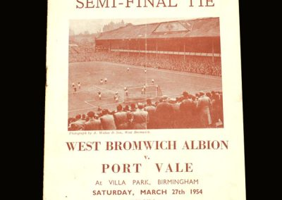 Port Vale v West Brom 27.03.1954 - FA Cup Semi Final