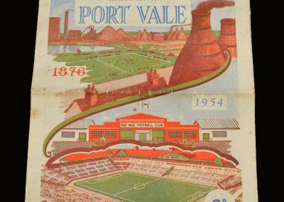 Port Vale v Wrexham 24.04.1954 - Champions Souvenir