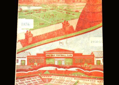 Port Vale v Plymouth Argyle 28.08.1954