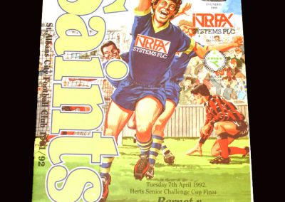 Barnet v Hemel Hempstead 07.04.1992 (Herts cup final)