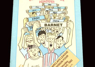 Barnet v Scunthorpe 11.01.1992