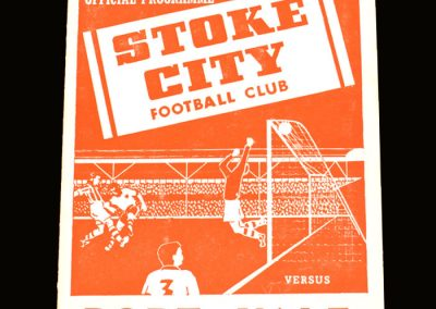 Port Vale v Stoke City 04.09.1954