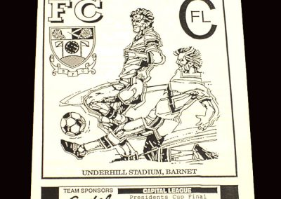 Barnet Reserves v Brentford Reserves 04.05.1992 (Capital League Cup Final)