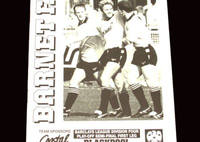 Barnet v Blackpool 10.05.1992 - League Four Play-Offs Semi Final 1st Leg