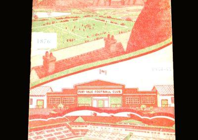 Port Vale v Blackburn 02.10.1954