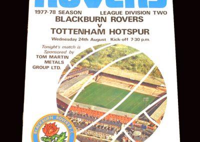Spurs v Blackburn 24.08.1977
