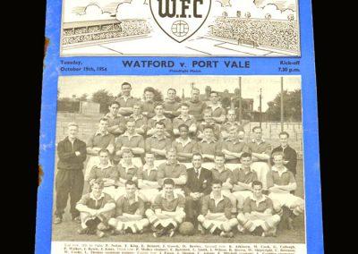 Port Vale v Watford 19.10.1954 (Friendly)