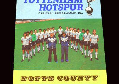 Spurs v Notts County 27.08.1977